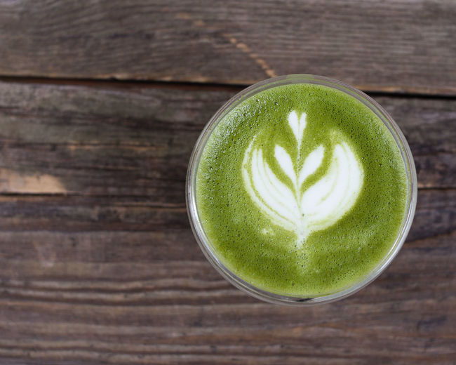 coffee love Matcha Cappuccino Close-up Day Drink Food And Drink Freshness Froth Art Frothy Drink Green Color Healthy Eating Healthy Lifestyle Indoors  Latte Matcha Tea No People Refreshment Studio Shot Table Wood - Material