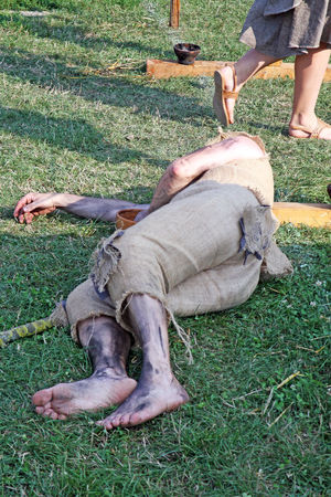 Renaissance Festival,Koprivnica ,Croatia,Europe,2016,contributor, 48 Contributors Costume Craftmanship Croatia Day Eu Europe Fair Field Grass Koprivnica Lying Down Outdoors Person Relaxation Renaissance Festival Resting Summer Traditional