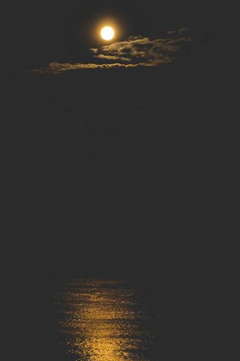 Astronomy Beauty In Nature Idyllic Illuminated Moon Nature Night No People Outdoors Scenics Sea Sky Sunset Tranquil Scene Tranquility Water