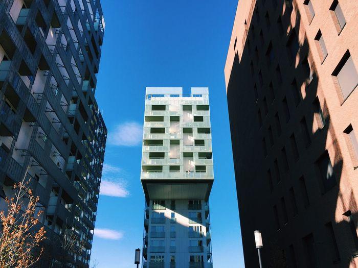 Contemporary architecture in oslo streets