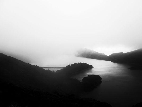 Lagoa do Fogo, Açores An Eye For Travel Shades Of Winter Bnw_magazine Natureza Portugal_em_fotos Blackandwhite Landscape_Collection Noir Bnw_life EyeEm Nature Lover Bnw_collection Bnw Copy Space Shades Of Winter