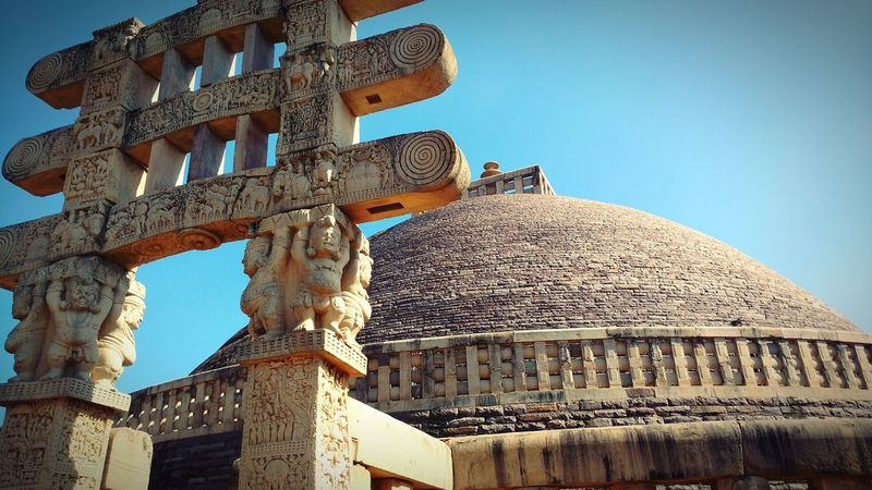 Budhism Stupa Ashoka Entrance Ancient Civilization Ancient History Old Ruin Archaeology Sky Architecture Building Exterior Built Structure Tomb Civilization Religion Temple - Building Spirituality