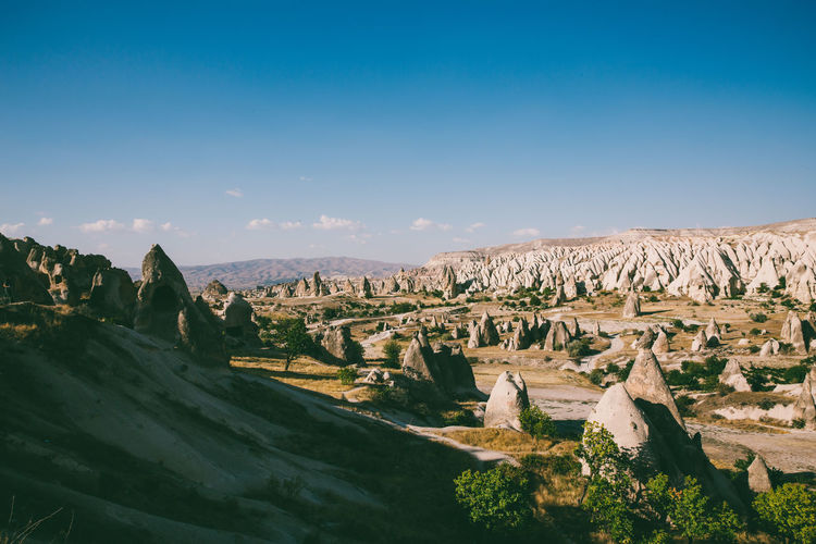 Landscape from Cappadocia, Turkey Sky Landscape Scenics - Nature Non-urban Scene Tranquility No People Tranquil Scene Beauty In Nature Environment Travel Destinations Rock Nature Mountain Tourism Travel Climate Kapadokya Cappadocia Cappadocia/Turkey History Historic