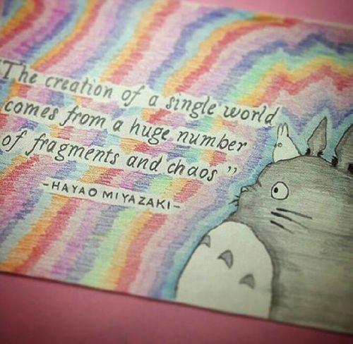 Totoro Myneighbortotoro Totorolove Studioghibli Ihearttotoro Hiyaomiyazakiquote