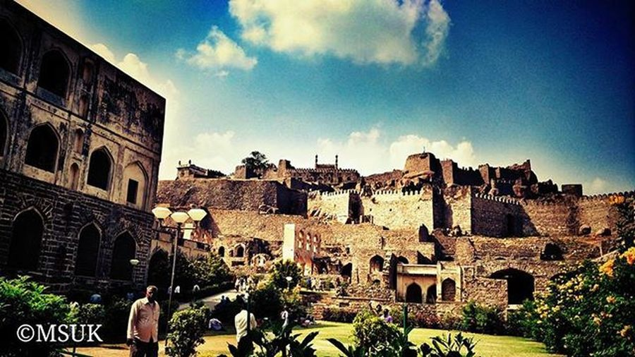 The Majestic Golconda Fort! Hyderabad Photography Instagram Beautifulness  India Telangana Ancient Monument Architecture Photographypage Followforfollow Followback F4F Followplease Followmenow  @xiaomi_world Mi4i Mi4iphotography @top.tags Like