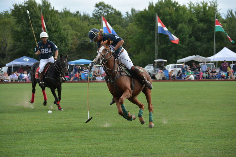 Adult Adults Only Competition Day Horse Outdoors People Polo Real People USA Polo Tea