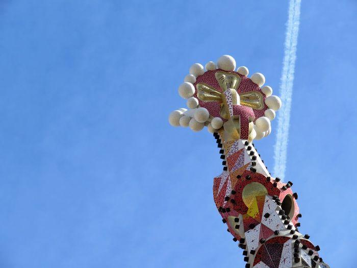 Low Angle View Of Sagrada Familia Against Sky