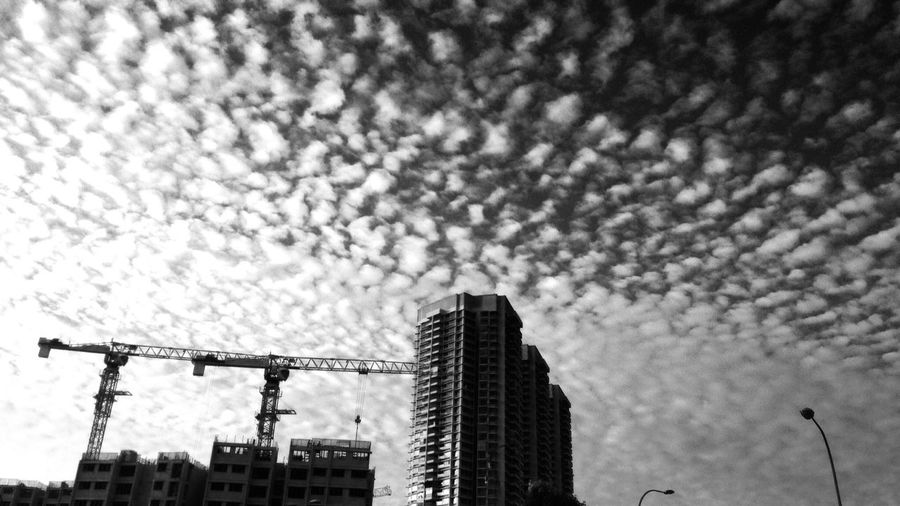 I love when the Clouds are like this! Sky like Cotton Candy Black And White