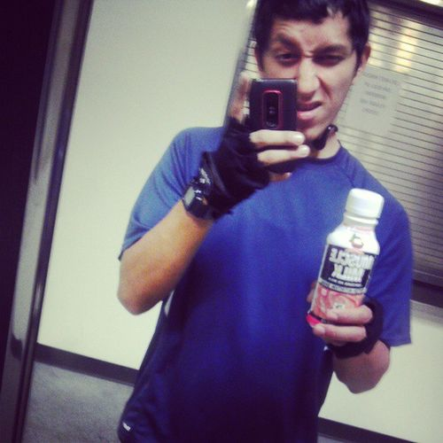 Another workout complete! Workit MuscleMilk Strawberryncreme Gloves whatthehellareyoudoing and later cardio xt tapout unready bringit