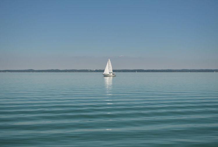 Sailing boat on a lake
