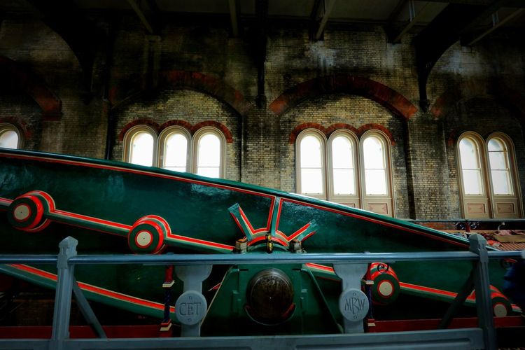 Crossness Pumping Station Indoors  No People Architecture Arch Built Structure Window Mode Of Transportation