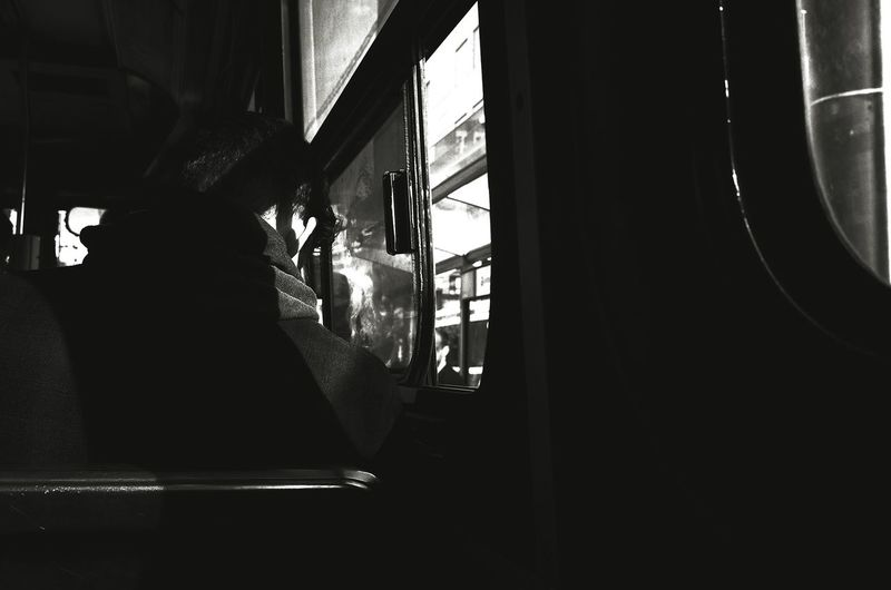 Balck And White Street Photography TTC Trolley City Life