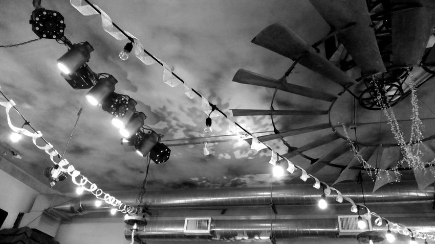 Low Angle View Cloud - Sky Arts Culture And Entertainment Hanging Out Blackandwhite Photography Check This Out Taking Photos Sculpture Close-up Ceiling Design Ceiling Lights No People Ceiling Art