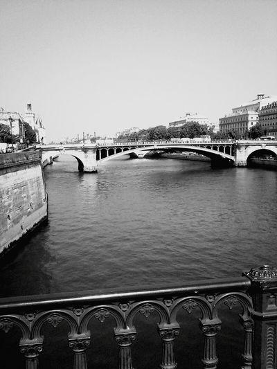 Paris Seine Bridge Cityscape Cityview From My Point Of View Black And White Bridge Of Paris Architecture