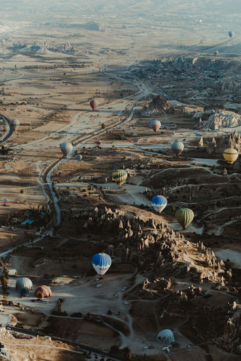 Day Environment High Angle View Nature Hot Air Balloon Landscape Land No People Air Vehicle Transportation Beauty In Nature Outdoors Water Balloon Flying Aerial View Scenics - Nature Rock Non-urban Scene Ballooning Festival Pollution