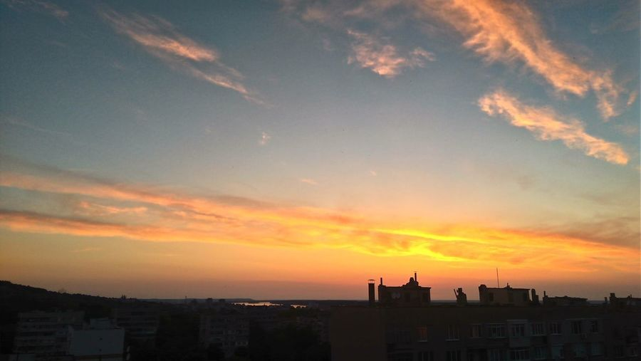 May city sunset