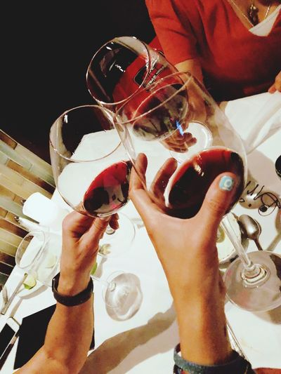 Girls night out Human Hand Hand Real People Human Body Part Holding Glass Lifestyles Body Part Wineglass Personal Perspective Celebratory Toast Adult Finger People Indoors  Group Of People Food And Drink Drink Refreshment Leisure Activity