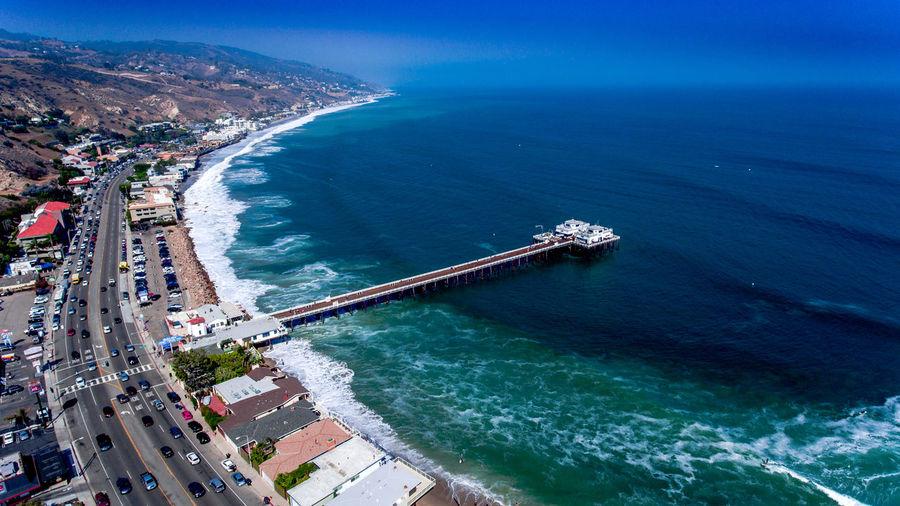 Aerial View Ariel Photography Beach Coastal Coastline Dronephotography Freeway Malibu Malibu Pier Ocean Ocean Waves Original Experiences Pier Sea Sea And Sky Seascape Seascape Photography Tranquil Scene Waves Showcase June