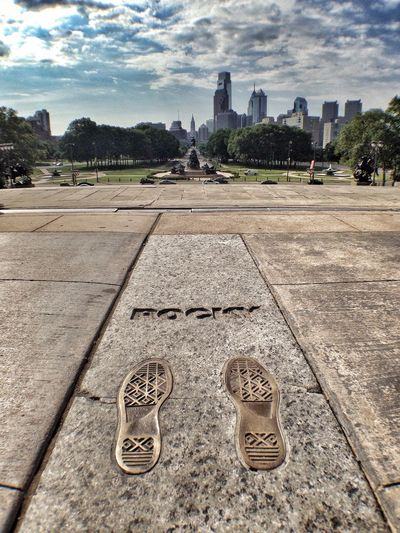 Rocky steps! Portrait Of America Seeing The Sights Philly Philadelphia Rocky