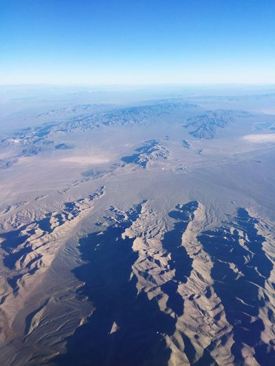 Nevada, USA Aerial View Beauty In Nature Nature Scenics Landscape Tranquil Scene Tranquility Cold Temperature Idyllic Winter Physical Geography Flying High Outdoors No People Day Awe View Into Land Airplane The Natural World Sky Textures Of Nevada