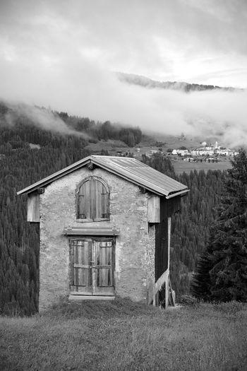 Blackandwhite Dolomiti Landscape Monochrome Monocromía Biancoenero Casamazzagno Comelico Tree Halloween Sky Architecture Building Exterior Built Structure