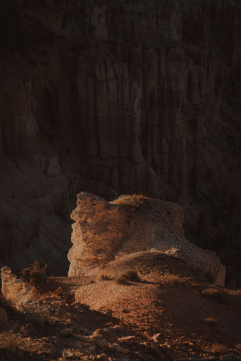 Rock formations on field