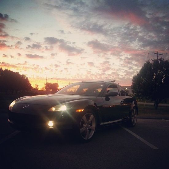 Because I thought the sunset was pretty ? ⛅ Rx8 BecauseRotary Rotary 2Rotor Sunset Mazda