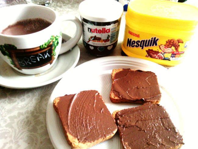 Relaxing Breakfast Nesquik♡ Nutella ♥ Ferrero