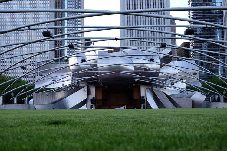 Digital composite image of modern building