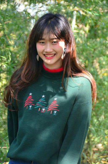 Smiling Happiness People Fun Tree Day Nature Only Women Women Christmas Day Cute Beautiful People Nature Photography Relaxation Green Color Photography Cool Happy EyeEm Thailand Beauty In Nature Smile Happy Time Cool Day Love