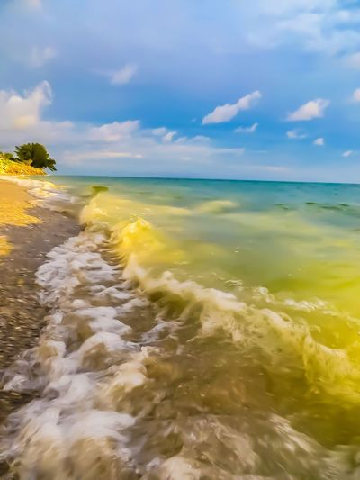 Engelwood Beach Florida Sea Water Beauty In Nature Sky Horizon Over Water Scenics Nature Tranquil Scene Cloud - Sky Tranquility Motion No People Outdoors Day Wave Beachphotography Beachlifestyle Beach Photography Ocean Ocean View Sand & Sea