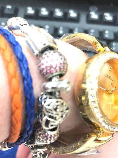 Pandora Paris charm broke :( I was sitting and it fell off Pandora Charms Pandora Bracelet  Pandora Bracelet  Time Jewelry Close-up Clock Watch Instrument Of Time Indoors  Multi Colored Personal Accessory Bracelet No People Wristwatch Number Machine Part Choice Focus On Foreground Selective Focus Fashion Still Life