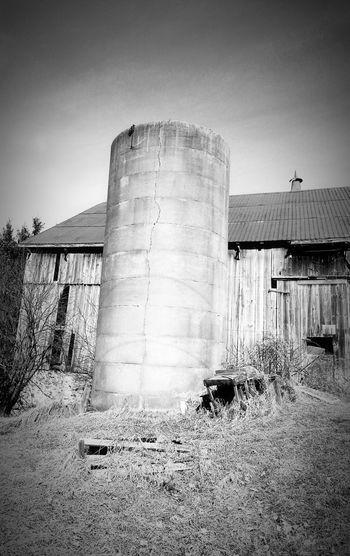 Silo Barn Abandoned Barn Black And White