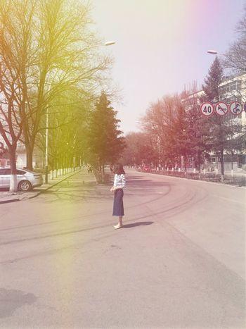 Tree Walking Road People enjoy everyday🌞