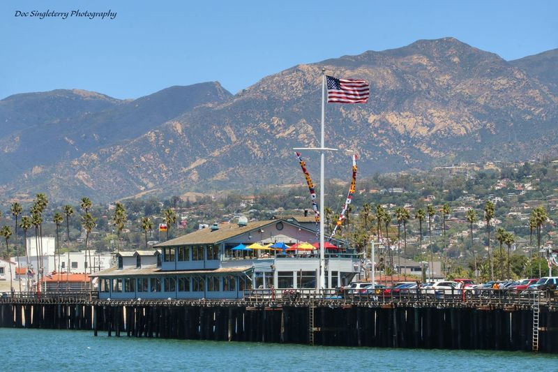 Sending A Postcard From Santa Barbara's Stearns Wharf Waterfront Pier Wharf Coastline Landscape Ocean Coastal Landscape California Coast Live For The Story