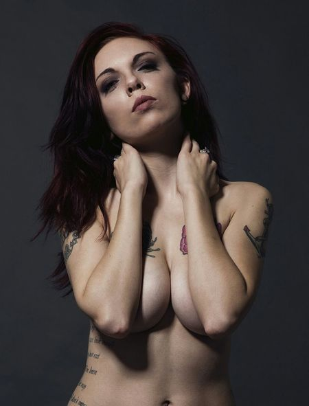 Closeup Curves Model Shades Of Cool Uncovered Magazine Tattoomodels Studio Shot Moodygrams Glamour Brown Hair