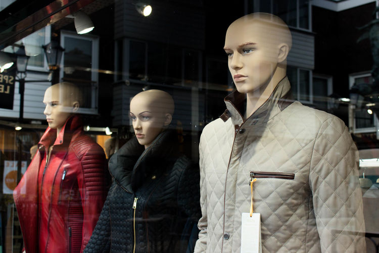 3 bald faces Bald Mannequin Head Baldhead Brighton City Life Clothing Store Fashion Mannequins Retail  Street Street Photography Urban