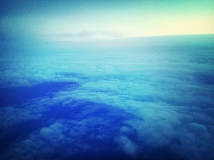 Clouds And Sky Up Above The World So High