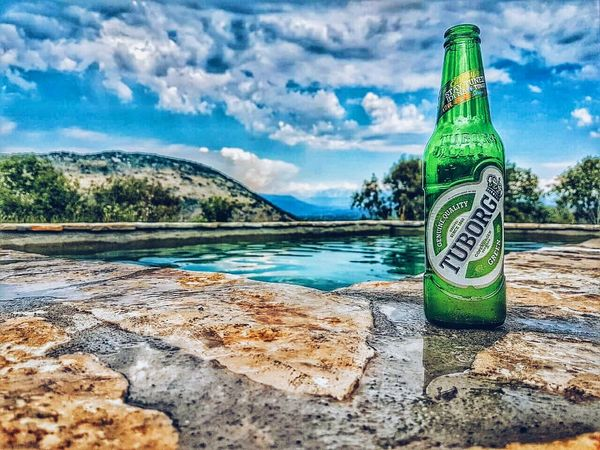 Cloud - Sky Sky Water Day Outdoors Beauty In Nature Tree Pool Pool Time Poolside Beer Nature TuborgGreen Tuborg Montenegro EyeEmNewHere Live For The Story
