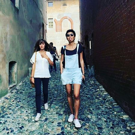 Full Length Outdoors Friendship People Portrait Two People Built Structure Building Exterior Adult Day Young Adult Togetherness Young Women Adults Only Human Body Part 未央 Saluzzo  EyeEmNewHere Miles Away EyeEmNewHere
