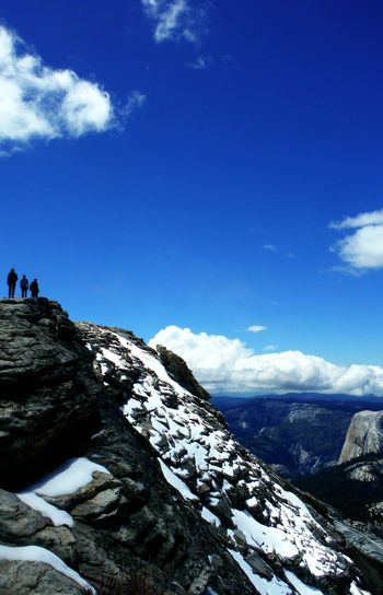 Following my crew to the 9,930ft peak of Cloud's Rest at Yosemite National Park. Top Of The World, In The Clouds Looking Down at Half Dome and Yosemite Valley. Hiking Adventures Wilderness Area In Good Company The Following Climbing A Mountain Top Of The Mountain Mountains And Sky Mountain Side Gorgeous Day Sky_collection Nature Lovers Clouds Rest Cloudsrest Cloud's Rest Yosemite California Yosemite, California Fujifilm Finepix Xp60