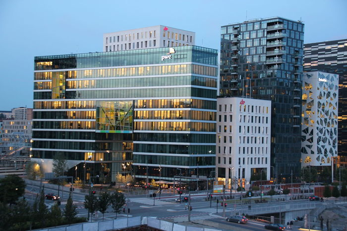 Architecture Building Building Exterior Built Structure Car City City Life City Street Community Development Land Vehicle Modern Noruega Norway Office Building Oslo Oslo Opera View Residential District Skyscraper Street Street Light Tall - High