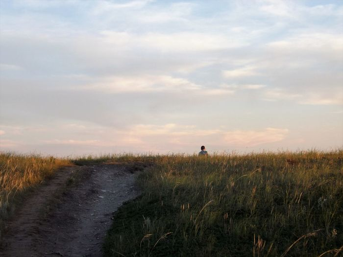 Hiking North Dakota North Dakota Badlands Clouds And Sky Grasslands Hiking Trail Outdoors Peaceful Summer Theodore Roosevelt National Park The Great Outdoors - 2018 EyeEm Awards
