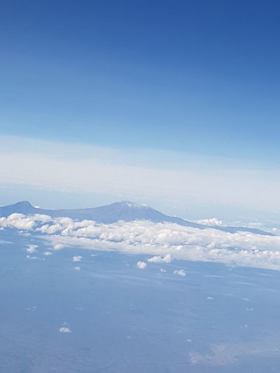 Finding New Frontiers Blue Sky Beauty In Nature Mountain Scenic Mt.kilimanjaro Eye In The Sky Eyeemphotography Clouds & Sky
