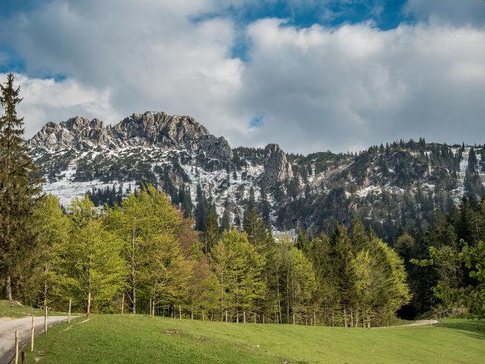 Alps Aschau Blue Sky Clouds Clouds And Sky Hiking Kampenwand Mountains