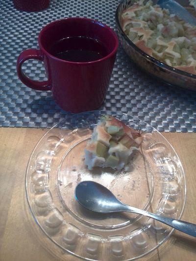 teetä ja raparperi piirakkaa! Tea Omom Eat With Friend