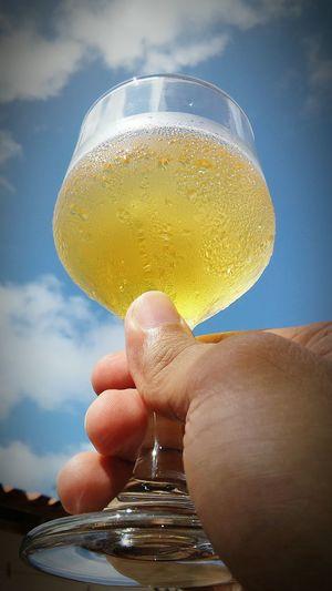 Sol & Cerveja Sol Ceu Azul Tomando Cerveja Cerveja Bebida Nuvens Domingo Cielo Azul Cerveza Beer Drink Drinking Beer