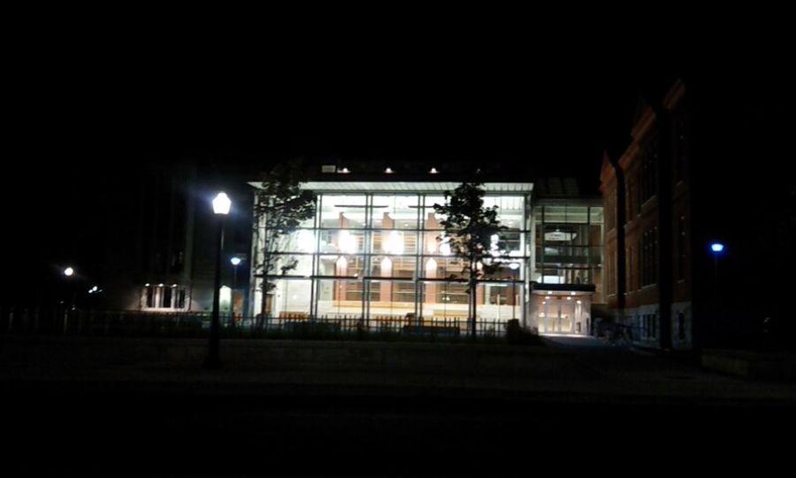 night time Queen's University