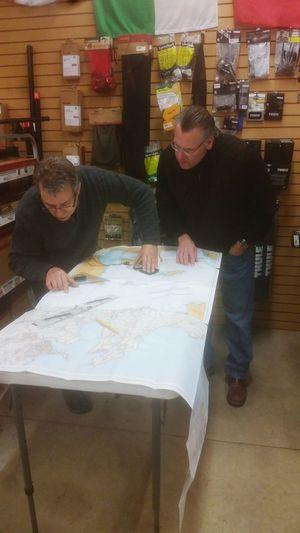 Our navigators hard at work. Riversidekayak Bonnieperrypadding Navigation