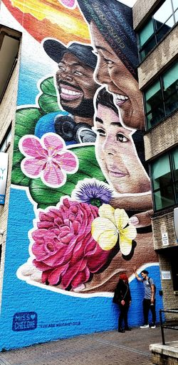 Multi Colored Close-up Architecture Built Structure Street Art Graffiti Mural Aerosol Can Fresco Art And Craft ArtWork Art Female Likeness Human Representation Drawing Spray Paint The Mobile Photographer - 2019 EyeEm Awards The Street Photographer - 2019 EyeEm Awards The Creative - 2019 EyeEm Awards